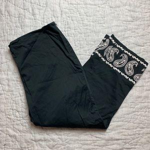 Jones New York crop pants with embroidery trim 16W